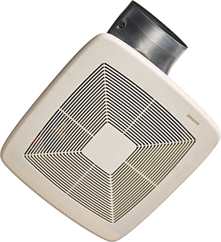 Broan-NuTone Nutone ZB110 Broan Exhaust Bathroom Fan, 6 Round, White
