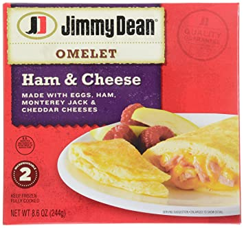 Jimmy Dean, Ham & Cheese Omelets, 8.6 oz (Frozen)