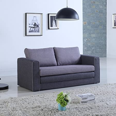 Amazon Com Divano Roma Furniture Modern Sofas Grey Dark Grey
