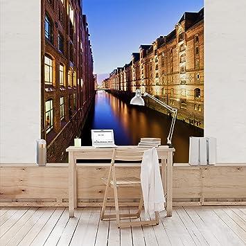 Apalis Vliestapete Hamburg Speicherstadt Fototapete Quadrat | Vlies ...