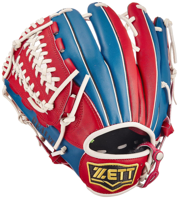 ZETT(ゼット) ソフトボール オールラウンド グラブ(グローブ) リアライズ (左投げ用) BSGB52720 レッド/ブルー B01M9GEIO3