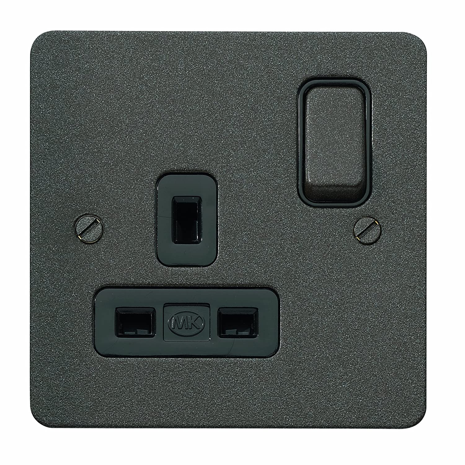 MK Edge K14357DBZB Single Dual Earth Switch Socket with Double Pole - Desert Bronze
