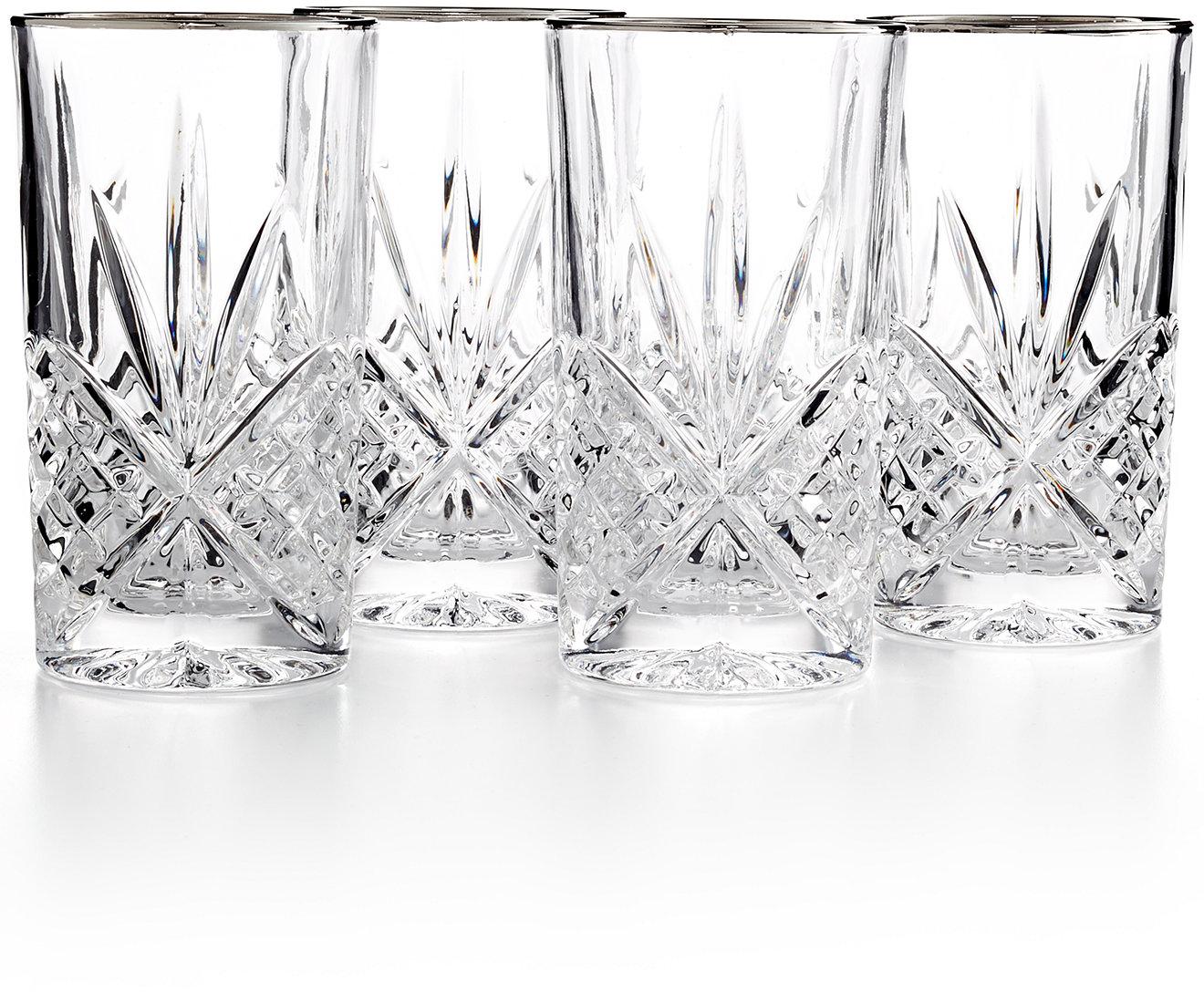 White apron macy's - Godinger Dublin Platinum Highball Glasses Set Of 4 All Glassware Stemware Dining