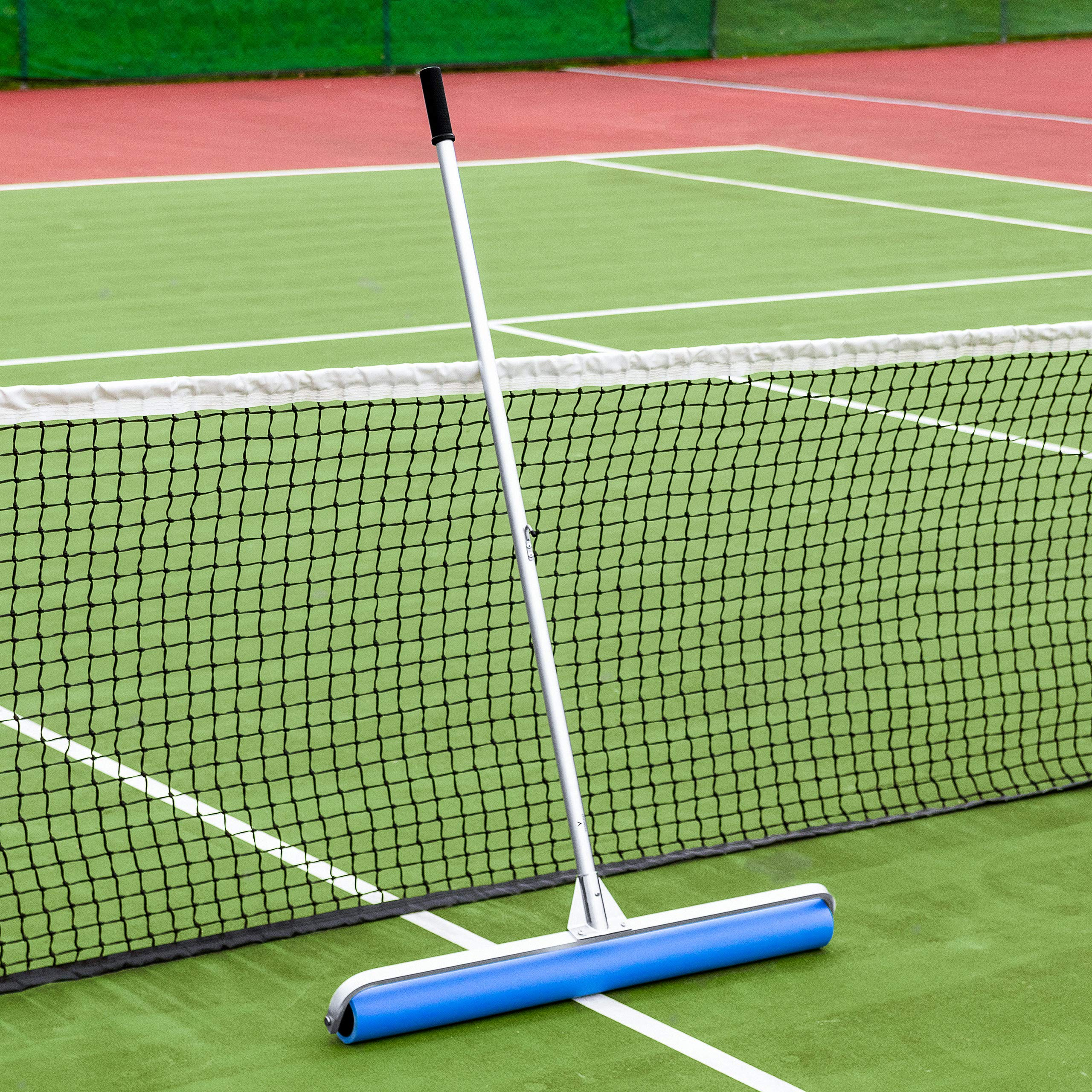 Vermont Rol-Dri Tennis Court Roller Squeegee [Blue PVA] | Dry Tennis Courts in Minutes (36in Sweep)