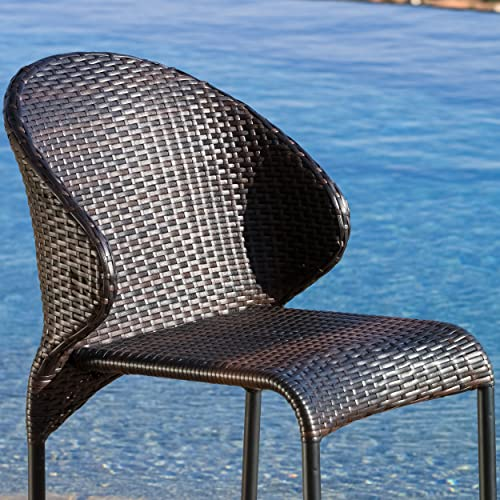 Christopher Knight Home Oyster Bay Wicker Counterstools