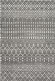 nuLOOM Moroccan Blythe Area Rug, 3' x 5', Dark Grey