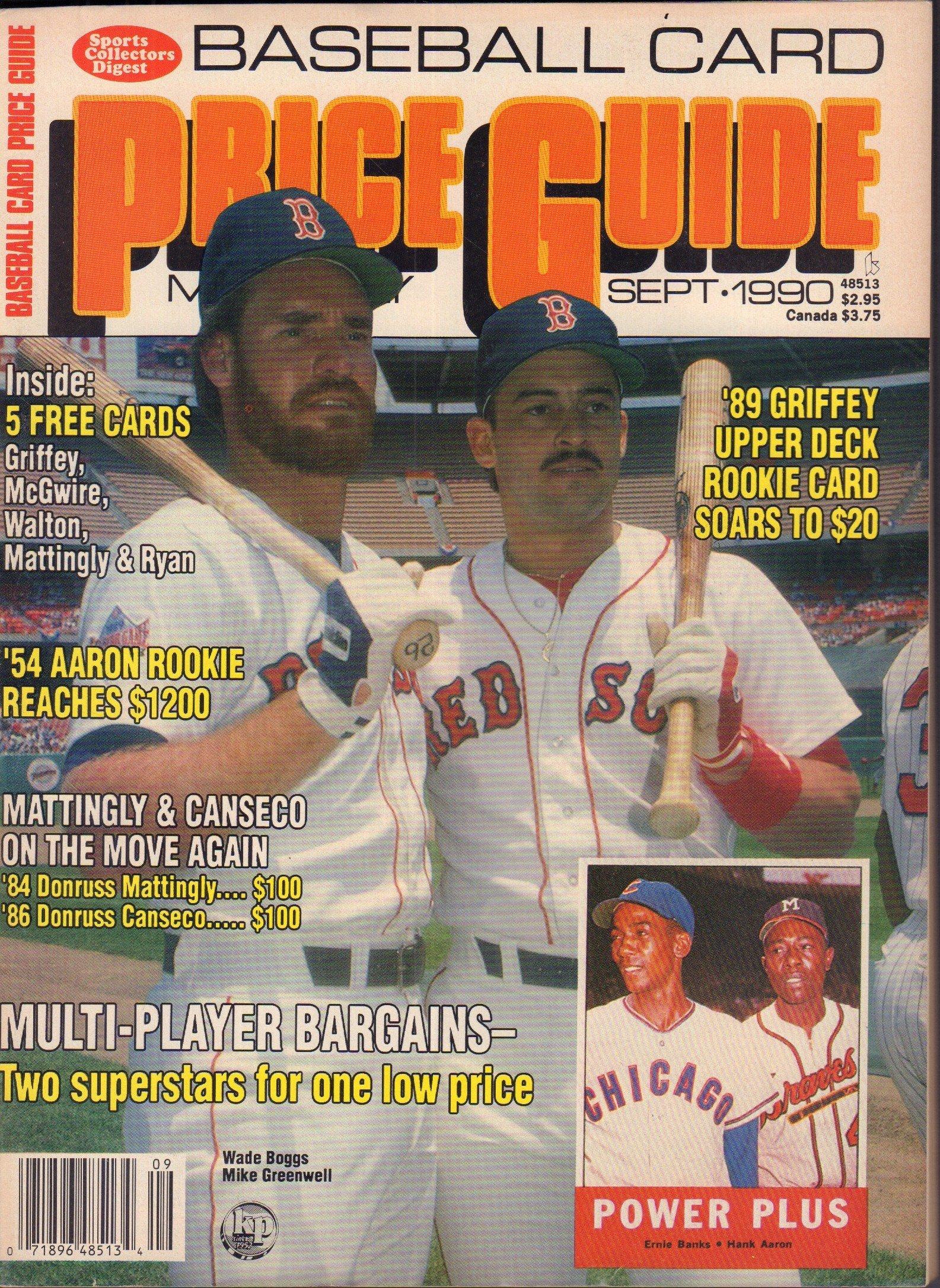 Baseball Card Price Guide September 1990 Ken Griffey