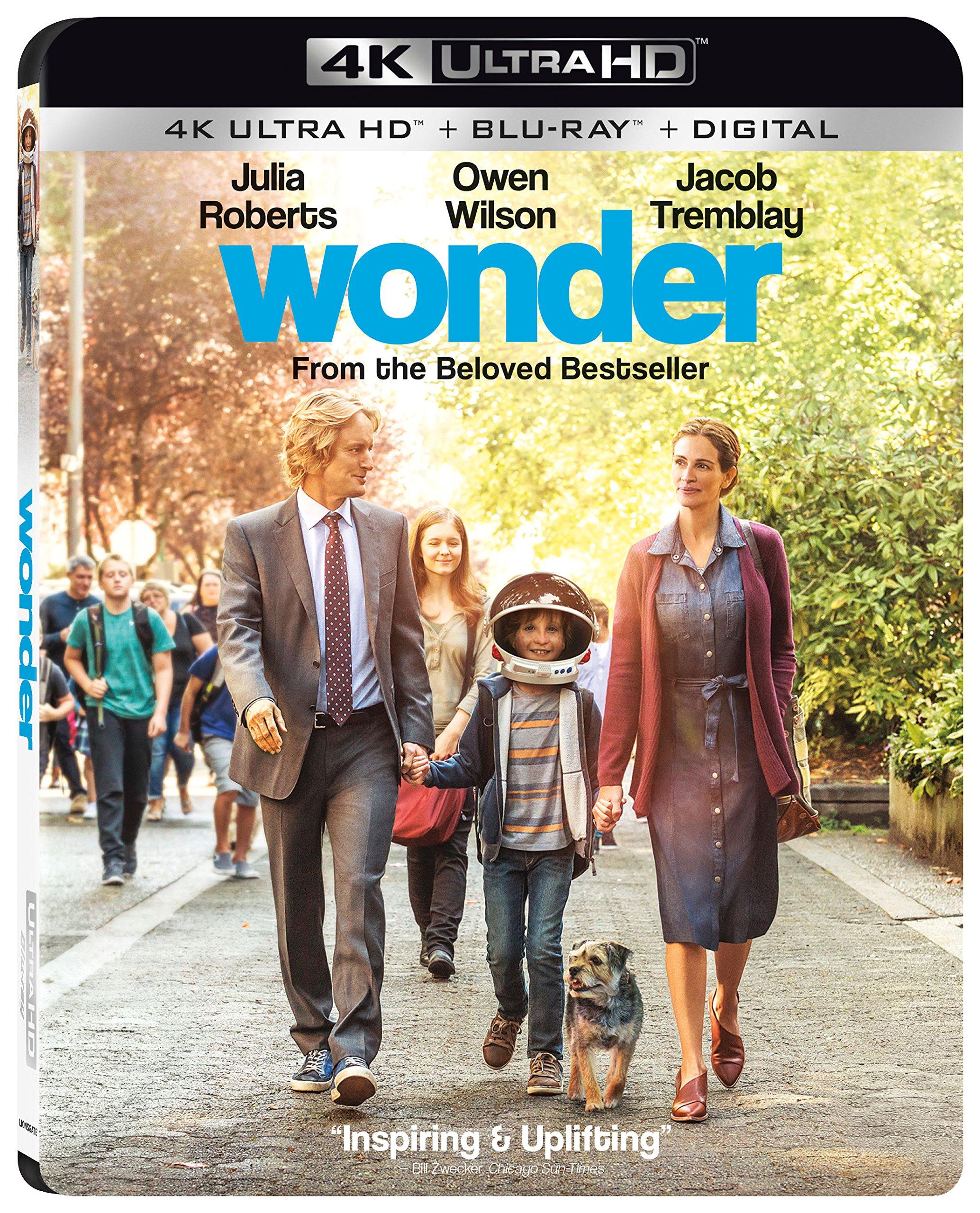 4K Blu-ray : Wonder (With Blu-Ray, Ultraviolet Digital Copy, 4K Mastering, 2 Pack, Dolby)
