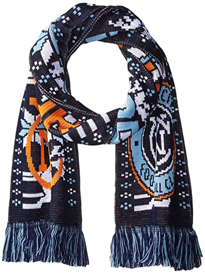 bcf70964a Amazon.com   RUFFNECK MLS New York City FC NYCFC Ugly Holiday Scarf ...