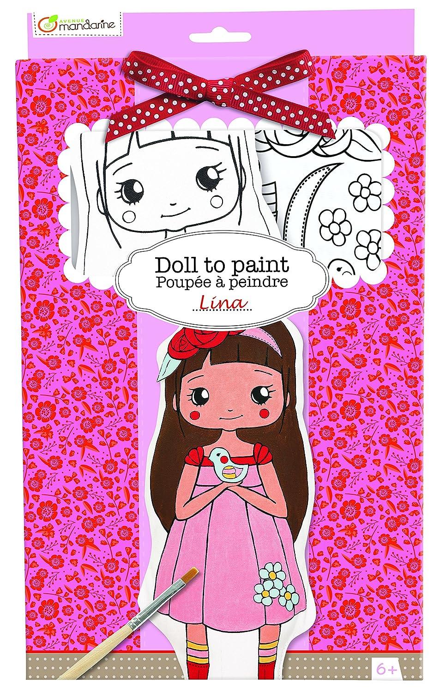 Avenida Mandarine Alicia Pintar su Propia muñeca de Trapo (Negro / Blanco) Avenue Mandarine PP007O