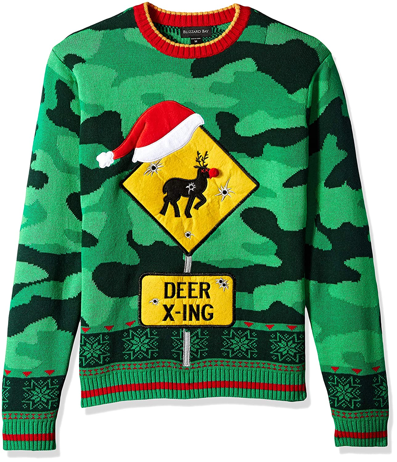 Rudolph Reindeer Themed Ugly Christmas Sweater
