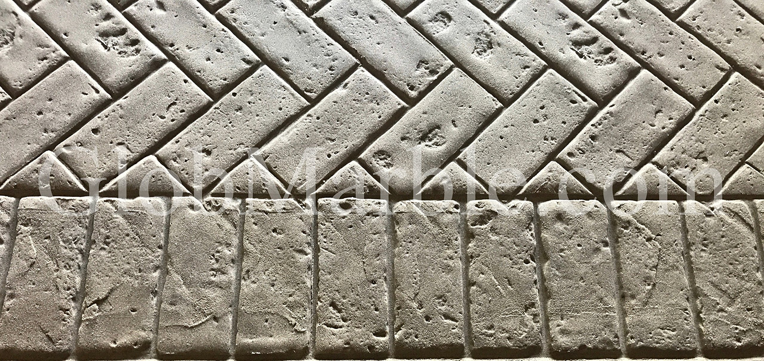 GlobMarble Concrete Stamps Set SM 4010. Brick Border Concrete Stamps