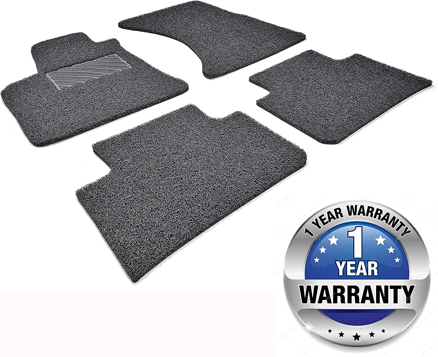 Black Autotech Zone Heavy Duty Custom Fit Car Floor Mat Compatible with 2010-2017 Chevrolet Equinox SUV All Weather Protector 4 Pieces Set