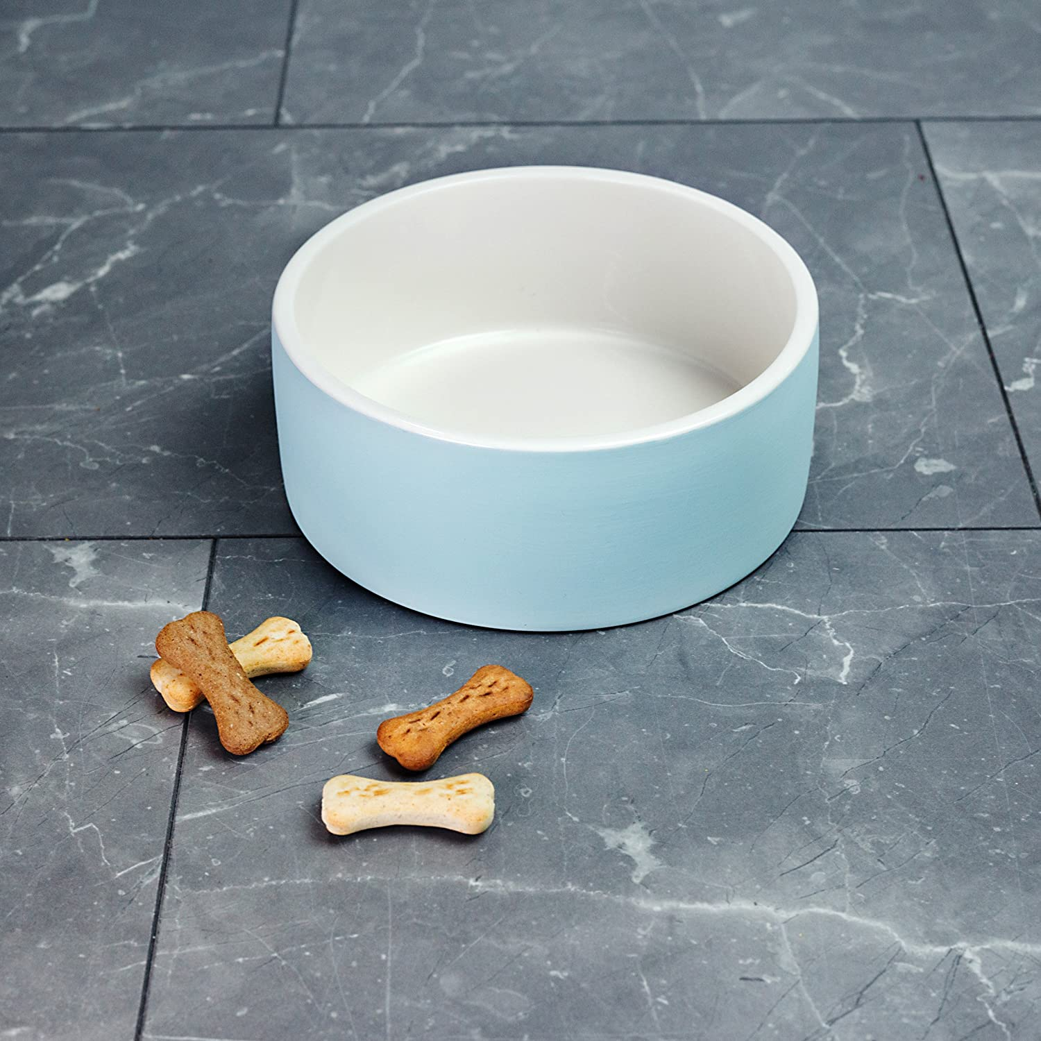 8 Inch Magisso 8 inch Naturally Cooling Ceramics Large Water Bowl bluee