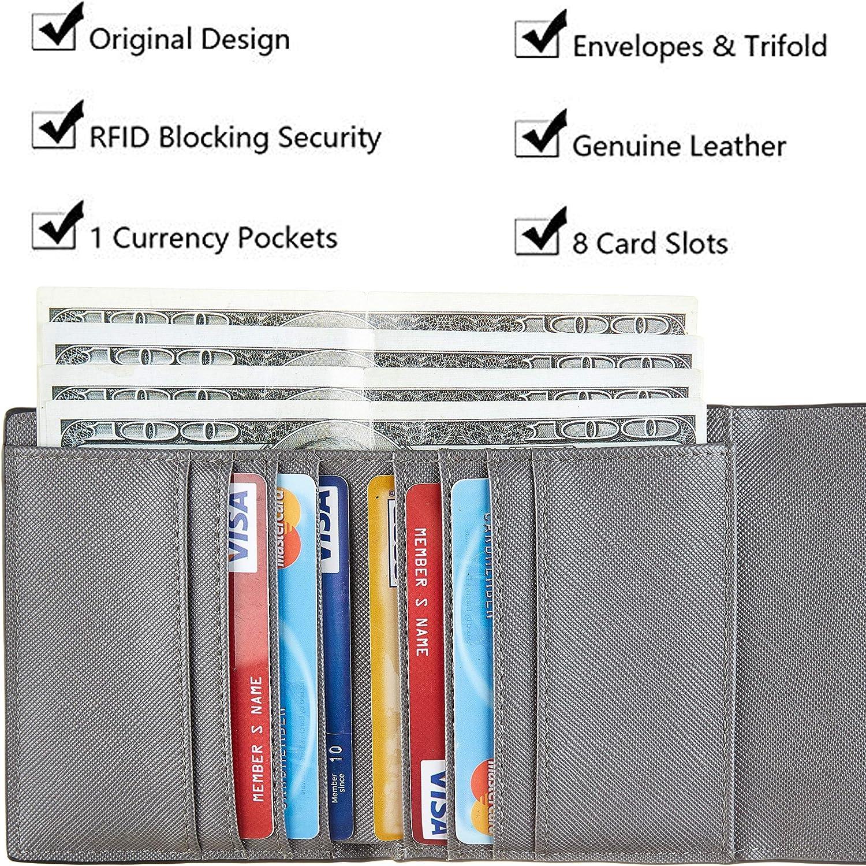 Rita Messi Vegan Leather Small Wallet for Women RFID Blocking Checkered Womens Credit Card Holder Mini Bifold Pocket Purse 01 Victoria