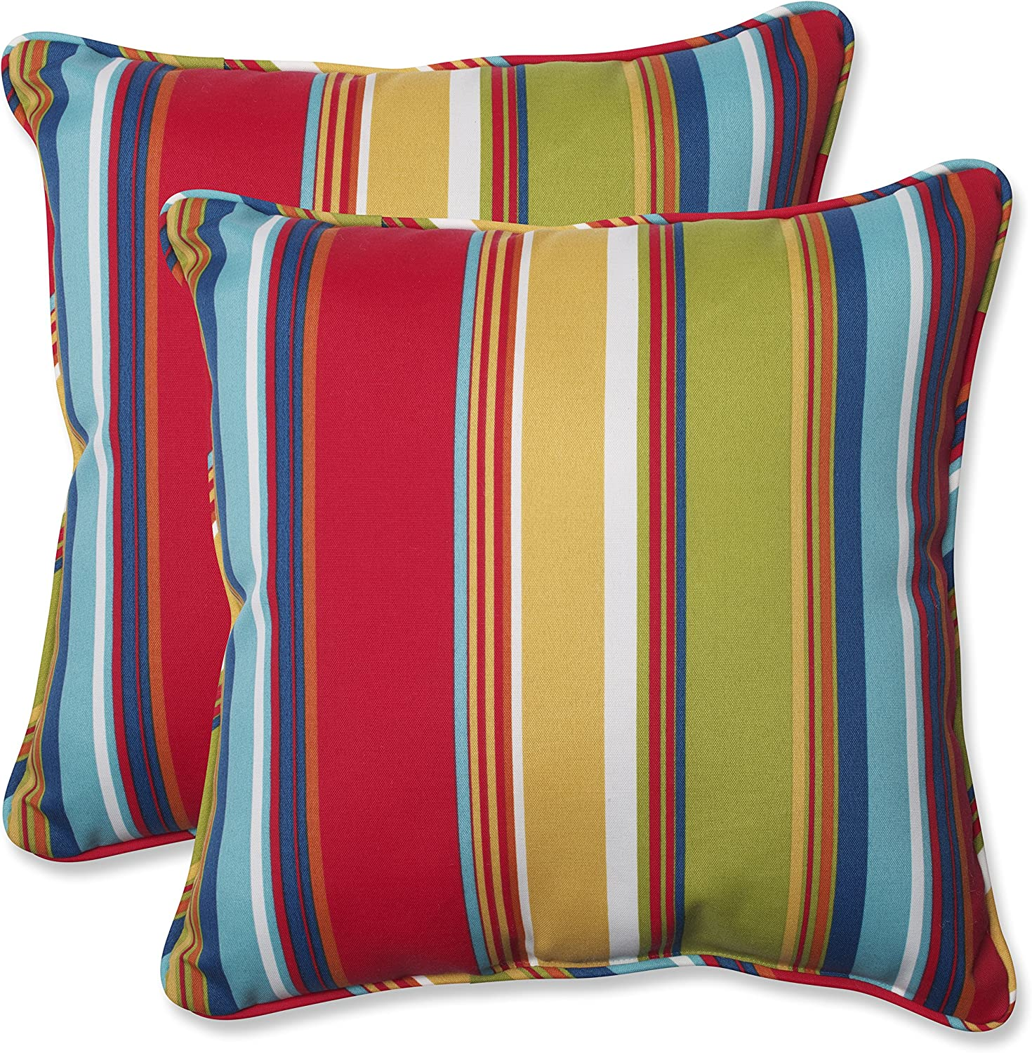Pillow Perfect 564210 Outdoor Westport Throw Pillow, Set of 2, 18.5 , Multicolored