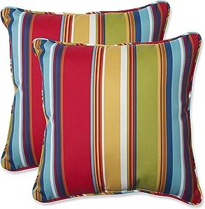 """Pillow Perfect 564210 Outdoor/Indoor Westport Garden Throw Pillows, 18.5"""" x 18.5"""", Multicolored"""