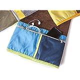 BgEurope - Toalla de playa grande con bolsillo con cremallera – 100% algodón, 100% algodón, Gris, 100cm x 180cm…