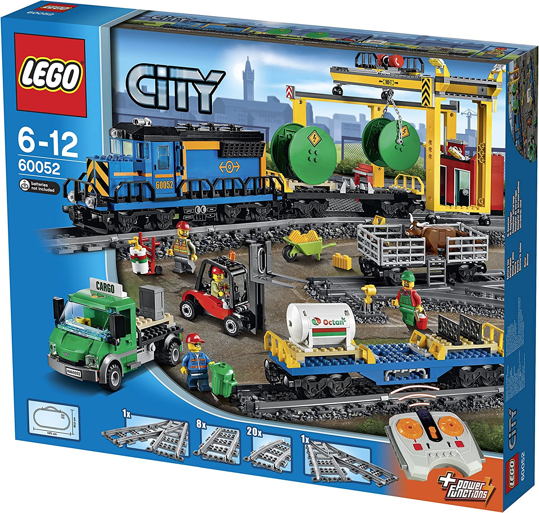 LEGO City - Tren de Mercancías, Set de Contrucción Ferroviario de Juguete (60052)