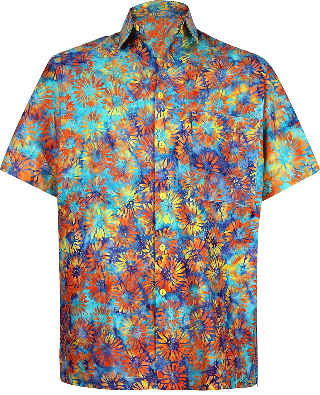c8bcadbb LA LEELA Shirt Casual Button Down Short Sleeve Beach Men Aloha ...