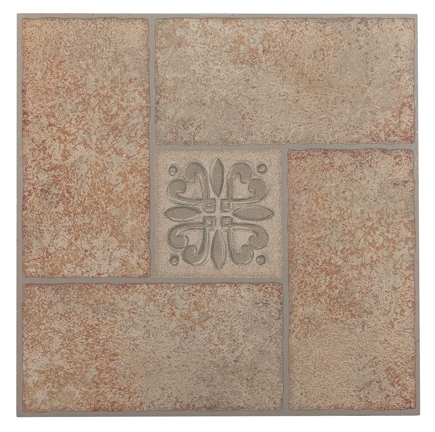 Self adhesive vinyl floor tiles floor l and stick tile flooring achim home furnishings ftvma42120 nexus 12inch vinyl tile marble beige terracotta motif center 20pack vinyl floor coverings amazoncom dailygadgetfo Images