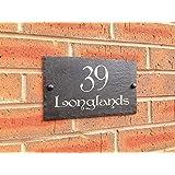 Slateworks Ardoise numéro de rue ou nom de maison 25 x 15 cm