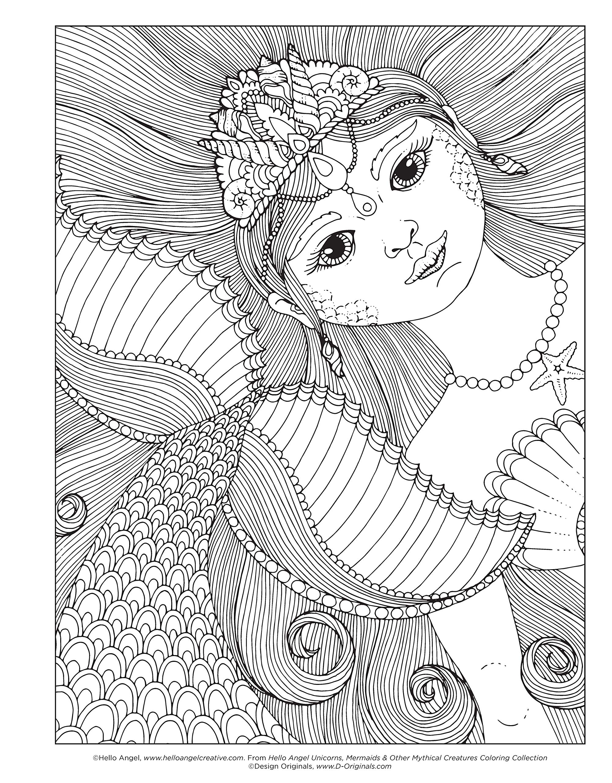 Amazon Com Hello Angel Unicorns Mermaids Other Mythical Creatures Coloring Collection Design Originals 32 Beautiful Designs Including Fairies Rainbows A Pegasus More Plus A 16 Page Artist S Guide 9781497203211 Angelea Van Dam