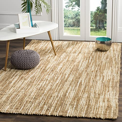 Safavieh Natural Fiber Collection NF260A Natural and Cream Area Rug, 6 x 9