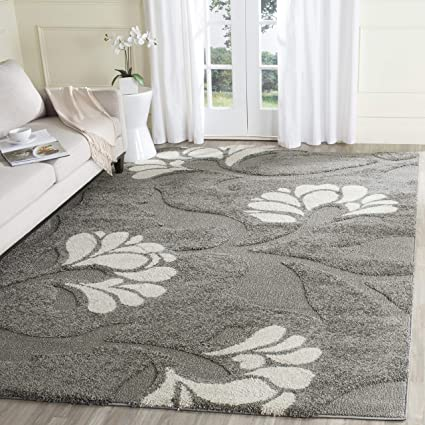 f8a489e7cf6 Image Unavailable. Image not available for. Color  Safavieh Florida Shag  Collection SG459-8013 Grey and Beige Area Rug (8  x
