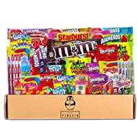 Bite Sized Candy Care Package - (50 count) A Sampler of Skittles, Sour Patch Kids...