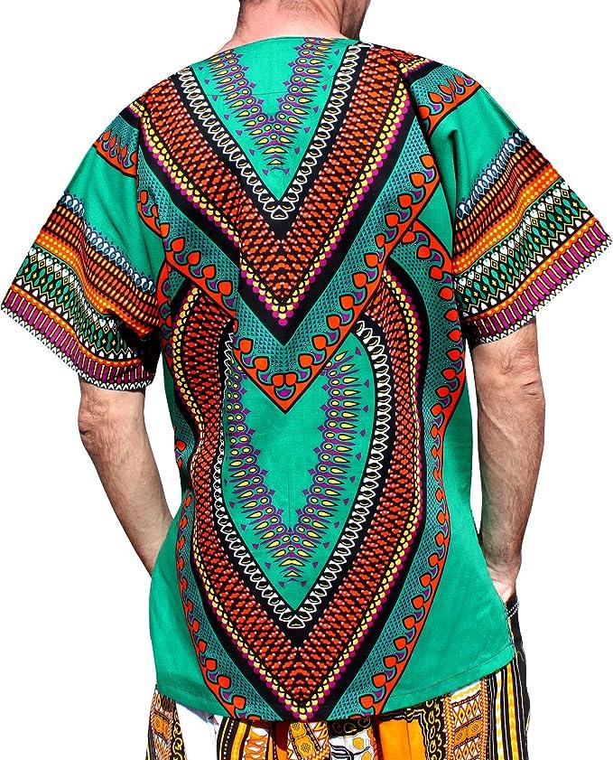 Herren Dashiki Traditionell Thailand Style Afrikanische Sommer T-Shirt