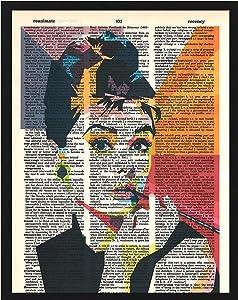 Signature Studios Audrey Hepburn Poster Vintage Vintage Dictionary Wall Art Audrey Hepburn Upcycled Print 8x10