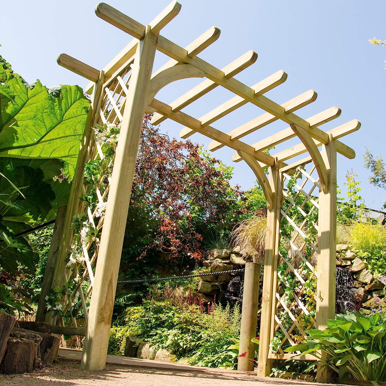 Pérgola en Forma de Arco: Amazon.es: Jardín