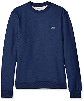 c9a07f59102201 Lacoste Men s Long Sleeve Mille-Raye Crew Neck Sweatshirt