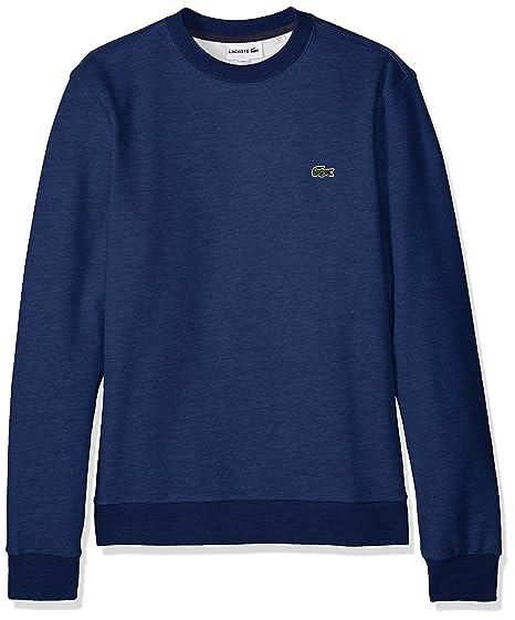 6ce32dfc00c Lacoste Men's Long Sleeve Mille-Raye Crew Neck Sweatshirt, SH3296