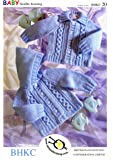 UKHKA/20 | Hooded Jacket and Hat Baby Double Knitting Pattern