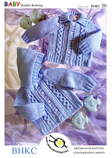Ukhka20 Hooded Jacket And Hat Baby Double Knitting Pattern