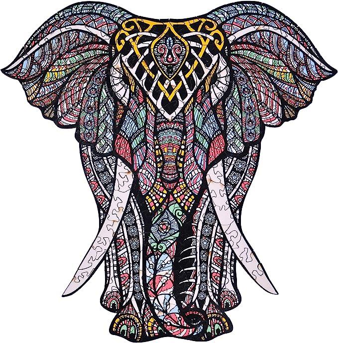 Amazon.com: Rompecabezas de madera – Elefante decorativo Hartmaze HM-06 pequeño tamaño rompecabezas 171 forma única piezas rompecabezas – hermoso animal para adultos y niños de 12 años de edad – mejor para la familia juego colección: Toys & Games