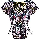 Wooden Jigsaw Puzzles – Decorative Elephant Hartmaze HM-06 Small Size Puzzle 171 Unique Shape Jigsaw Pieces-Beautiful…