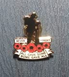 LIMITED 2017 WORLD WAR MEMORY NEVER FORGET HM FORCES UK ARMY RED POPPY ENAMEL PIN BADGE BROOCH
