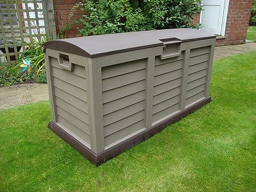 Wonderful Starplast Large Garden Storage Deck Box   390 Litre Capacity