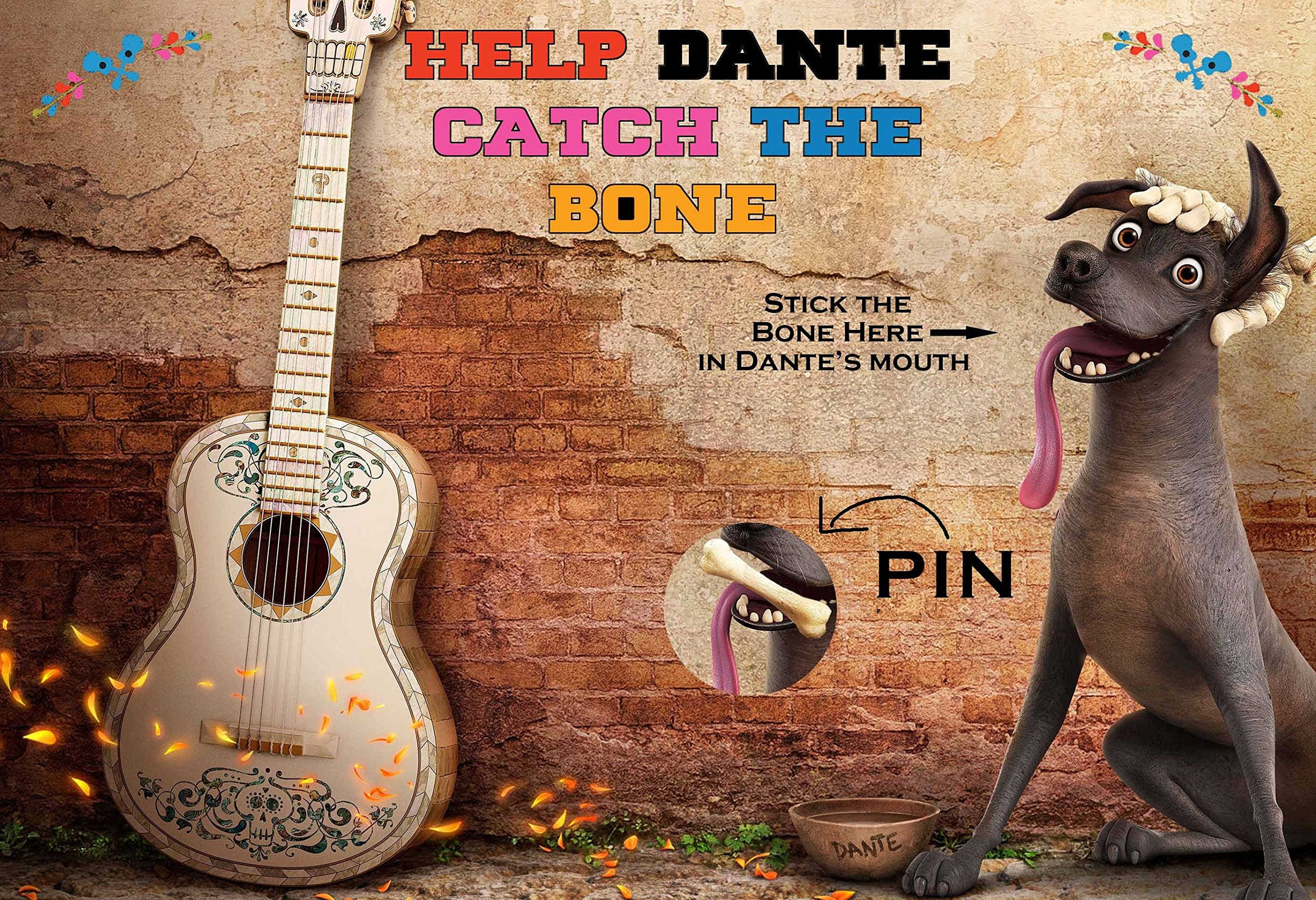 SGG Coco Movie Themed Party Supplies Game - Help Dante Catch the Bone