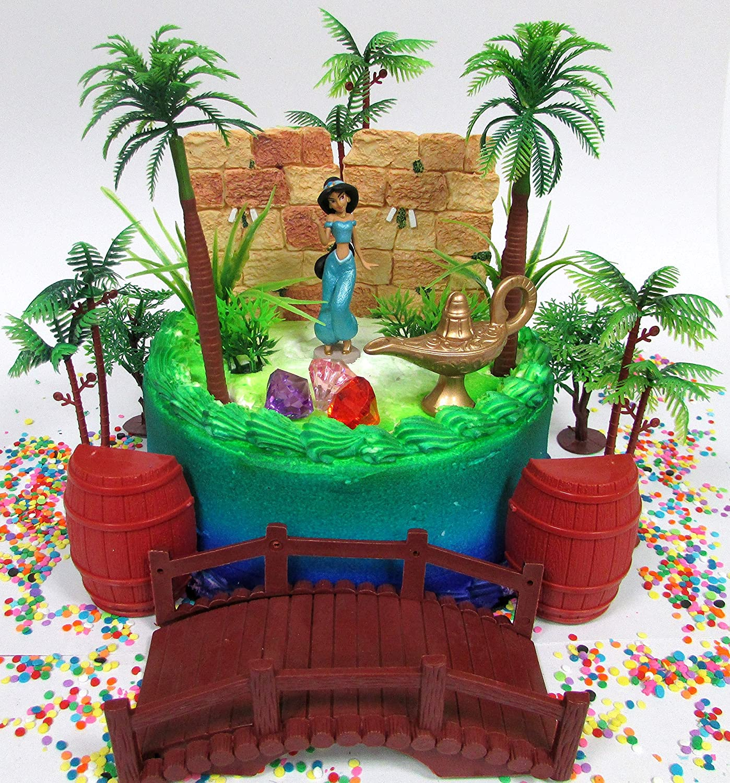Amazon Com Cake Toppers Aladdin Princess Jasmine Birthday Set