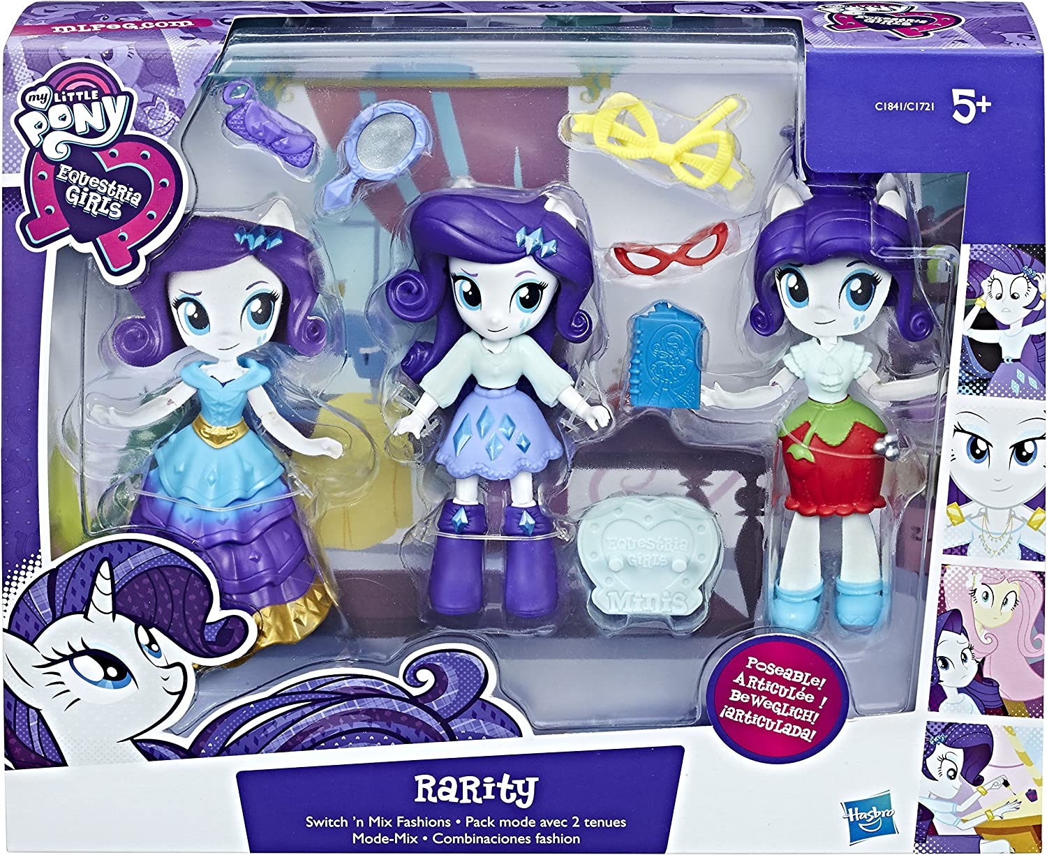 My Little Pony Rarity On The Go Fabulous nouvelle tenue Hasbro