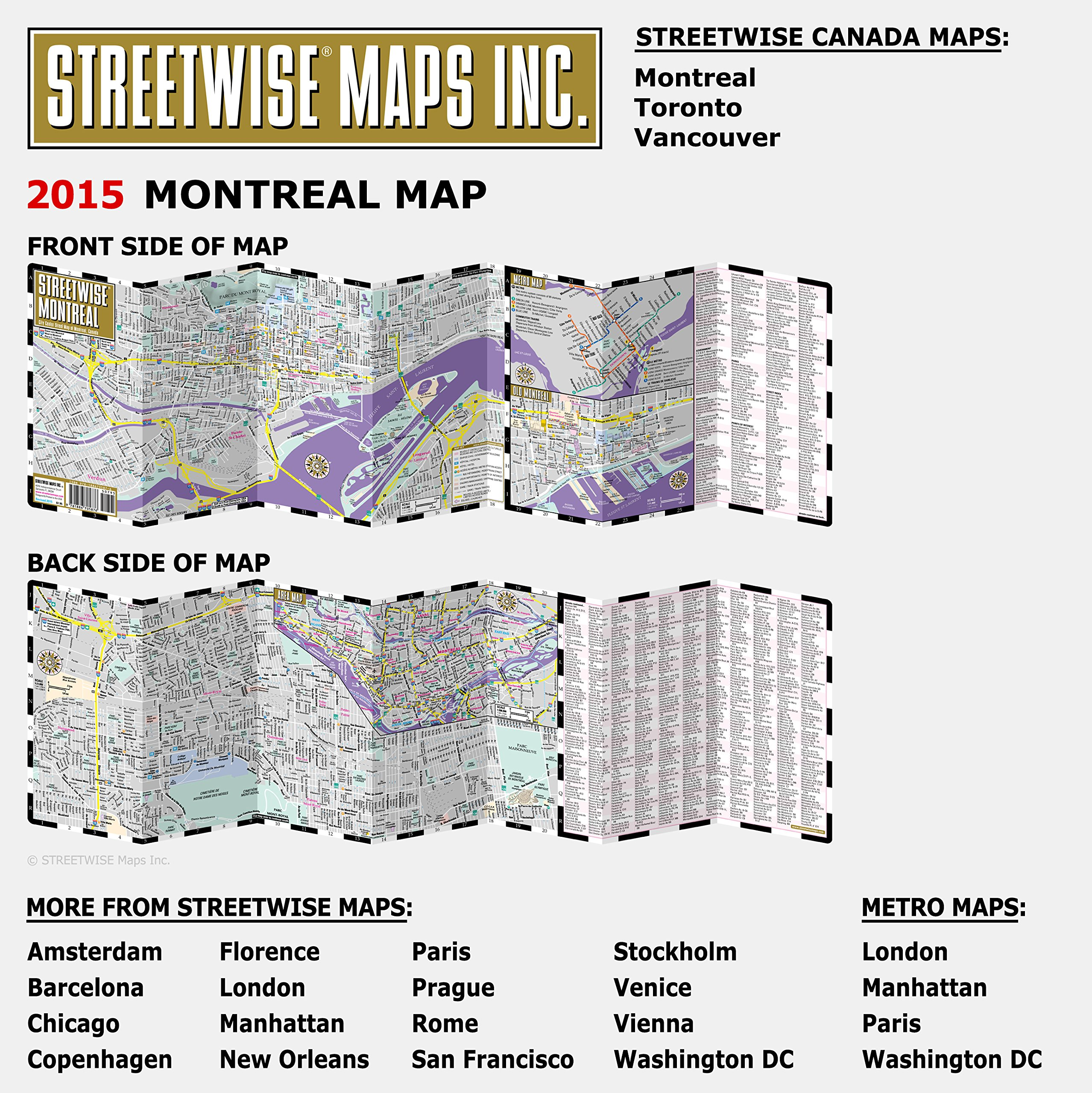 Montreal Subway Map Pdf.Streetwise Montreal Map Laminated City Center Street Map Of