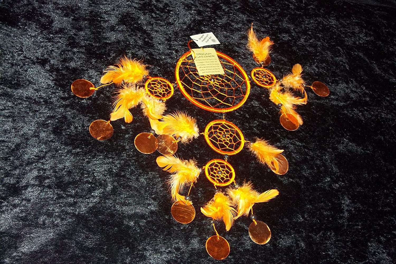 Farbe:orange Dreamcatcher Nylon mit Capisscheiben