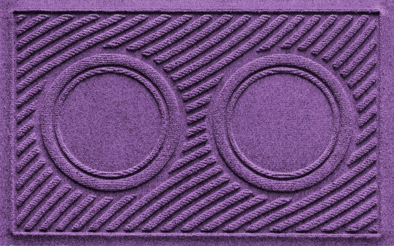 Purple 18  x 27 AquaShield Dog Bowl Wave Pet Feeder Mat, gold, 18  x 27
