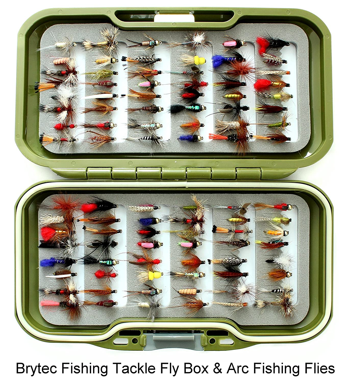 Fly fishing box and you select the quantity of fishing flies that suits your pocket.