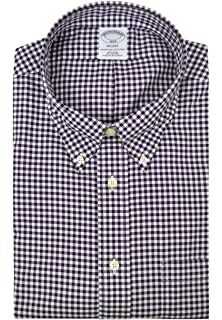 Brooks Brothers Mens 37936 Regent Fit All Cotton The Original Polo Button Down Shirt Melange Blue