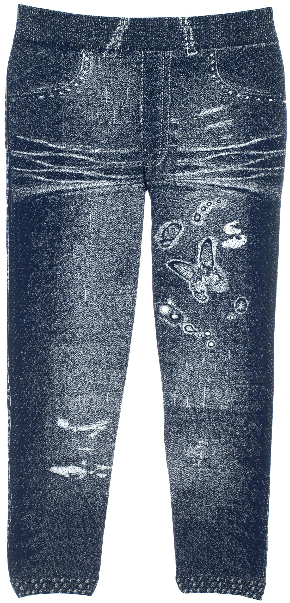Crush Girl's Jeggings with Sequenced Designs and Fun Prints 14 Great Styles (2T-4T, 22451 Navy)